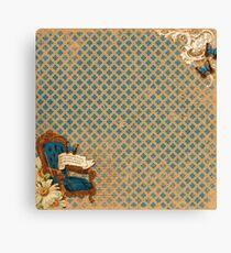 Vintage Alice in Wonderland Style Pattern Canvas Print
