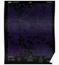 USGS TOPO Map Mississippi MS Hermanville 20120419 TM Inverted Poster