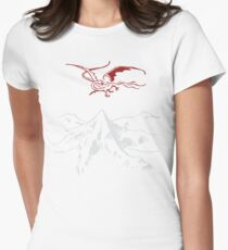Lonely Mountain Womens Fitted T-Shirt