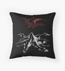 Lonely Mountain Throw Pillow