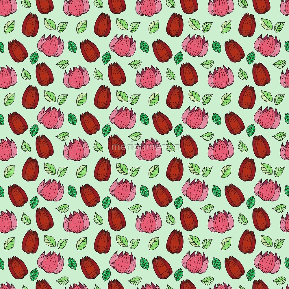Flower pattern by merionmerion