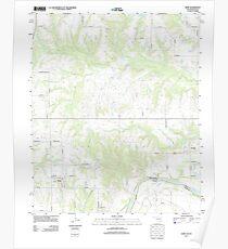 USGS TOPO Map Texas OK Kemp 20130109 TM Poster