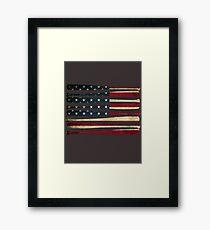 America baseball flag Framed Print