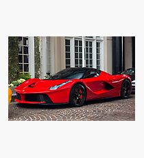 Ferrari LaFerrari In Red Photographic Print