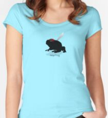 Ninja Frog  Women's Fitted Scoop T-Shirt