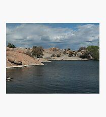 Water Line- Willow Lake, AZ Photographic Print