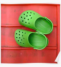 Green Crocs Poster