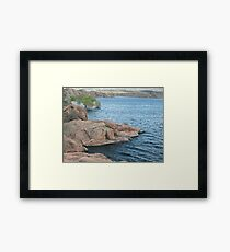 Waters Edge- Willow Lake Framed Print