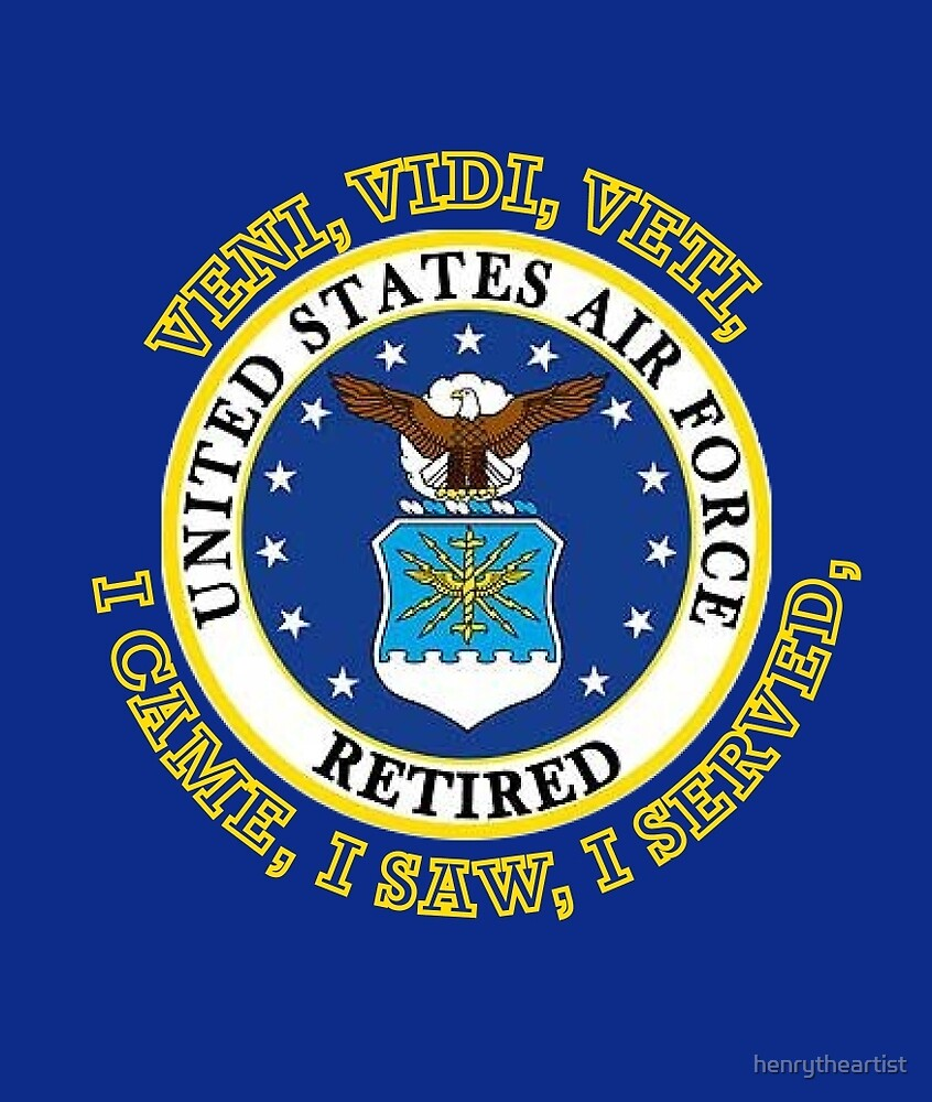 US Air Force Retired VVV Shield by henrytheartist