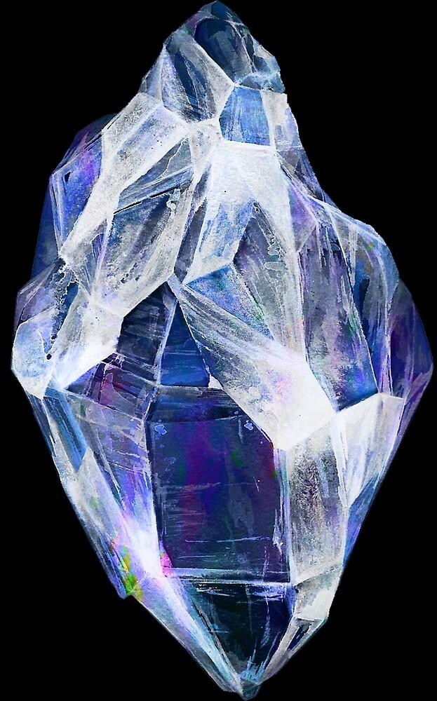 Blue Crystal (Black Background) by ProjectMayhem