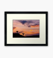 Colorful Sky Communications Framed Print
