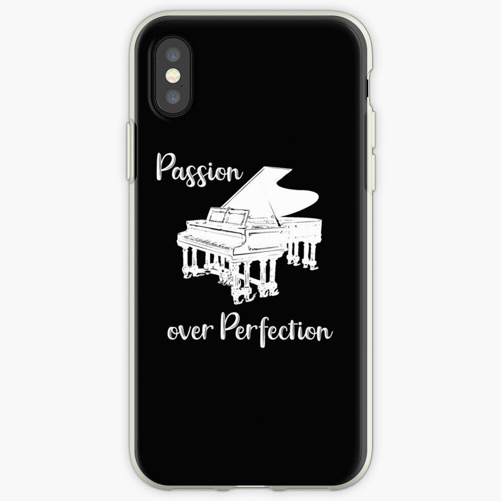 Piano Passion Over Perfection Pianist iPhone Case & Cover