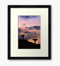 Colorful Sunset Communications Framed Print