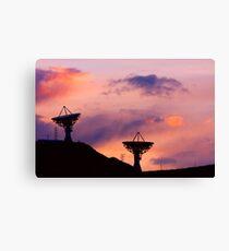Dishy Sunset Canvas Print