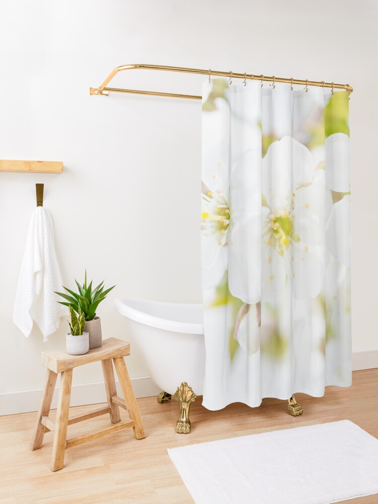 Alternate view of Ethereal Blossoms Shower Curtain