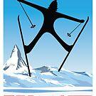 Zermatt, Wallis, Schweiz, Ski Poster von BokeeLee
