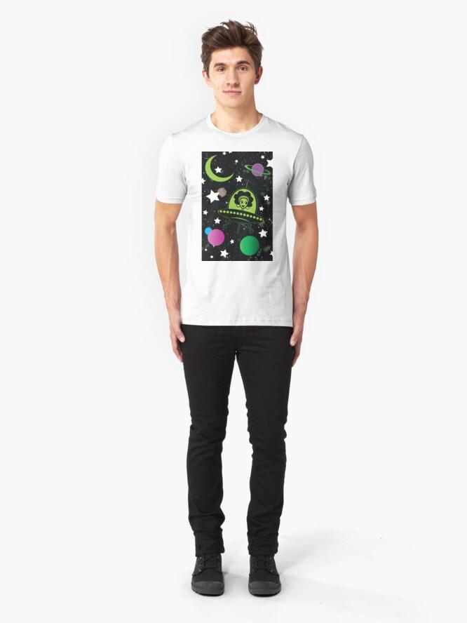 Alternate view of Afro Alien  Slim Fit T-Shirt