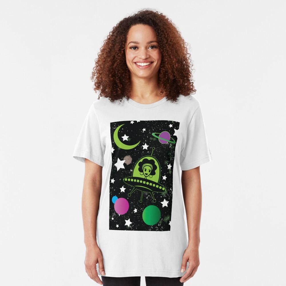 Afro Alien  Slim Fit T-Shirt