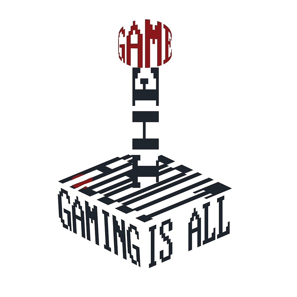 """Gaming is All About the Game"" Typography Joystick by Don Rice"