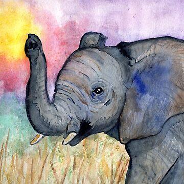 Elephant In The Sunset by missmann