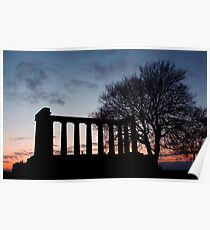 Sunset Over Calton Hill Poster