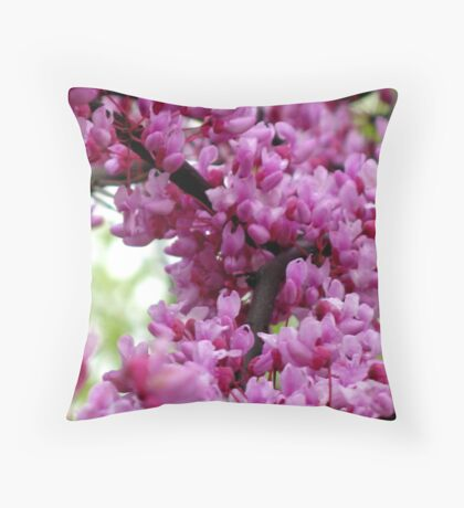 Redbud Branch Throw Pillow
