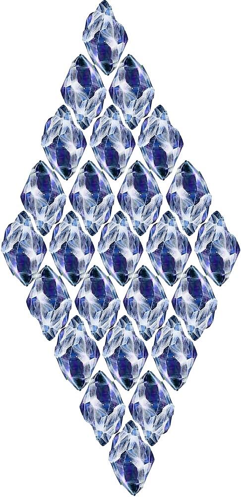 Blue Crystals Pattern by ProjectMayhem
