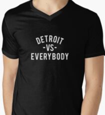 Detroit VS Everybody | White Men's V-Neck T-Shirt