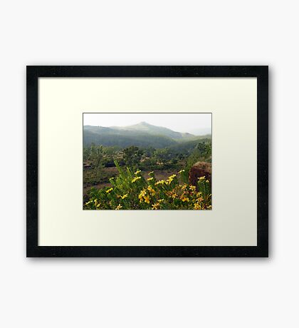Atop the World (Karnataka, India) Framed Print