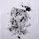 Contraintes et Abandon #3 - Monotype on Wenzhou Paper + pieces of paper sewn by Pascale Baud