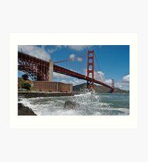 Golden Gate Splash Art Print
