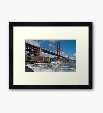 Golden Gate Splash Framed Print