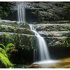 Terrace Falls Trickle by STEPHEN GEORGIOU PHOTOGRAPHY