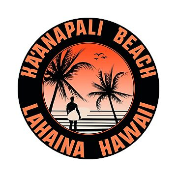 Surf Ka'anapali Beach Hawaii Lahaina Surfing by MyHandmadeSigns