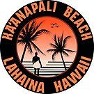 Surf Ka'anapali Beach Hawaii Lahaina Surfing by MyHandmadeSigns