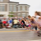 Girls Foot Race by Kent Nickell