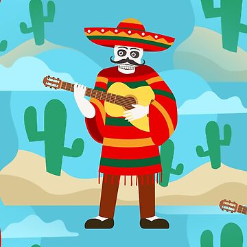 happy cinco de mayo skeleton by gossiprag