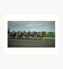 The Race Is On Art Print