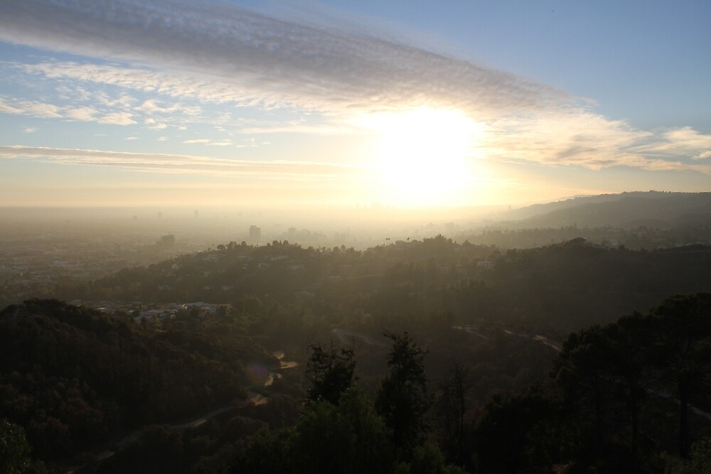 HOLLYWOOD HILLS by NickBentonArt