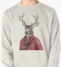 Hirsch aus Leder Sweatshirt