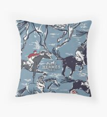 Hermes Horse Collage Picture Throw Pillow