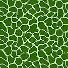 Giraffe Fur Pattern Lime Green by BigAl3D