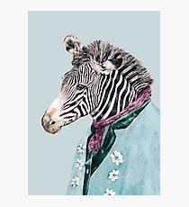 Zebra-Blau Fotodruck