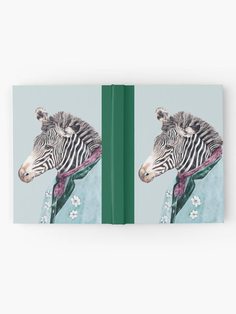 Alternative Ansicht von Zebra-Blau Notizbuch