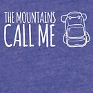 Mountains Call with backpack by JoannieKayaks