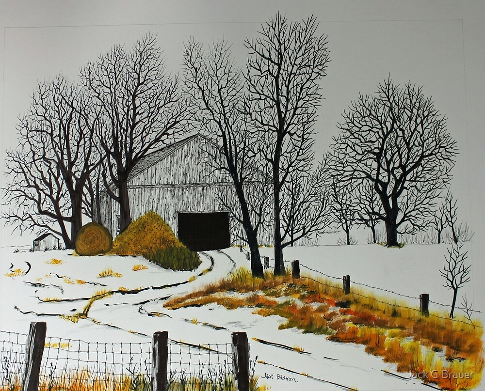 Early Snow  150705 by Jack G Brauer