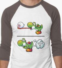 Farting Yoshi Men's Baseball ¾ T-Shirt