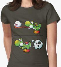 Farting Yoshi Women's Fitted T-Shirt