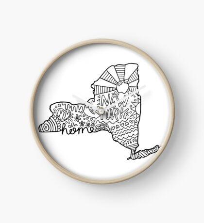 New York Doodle Zeichnung Uhr