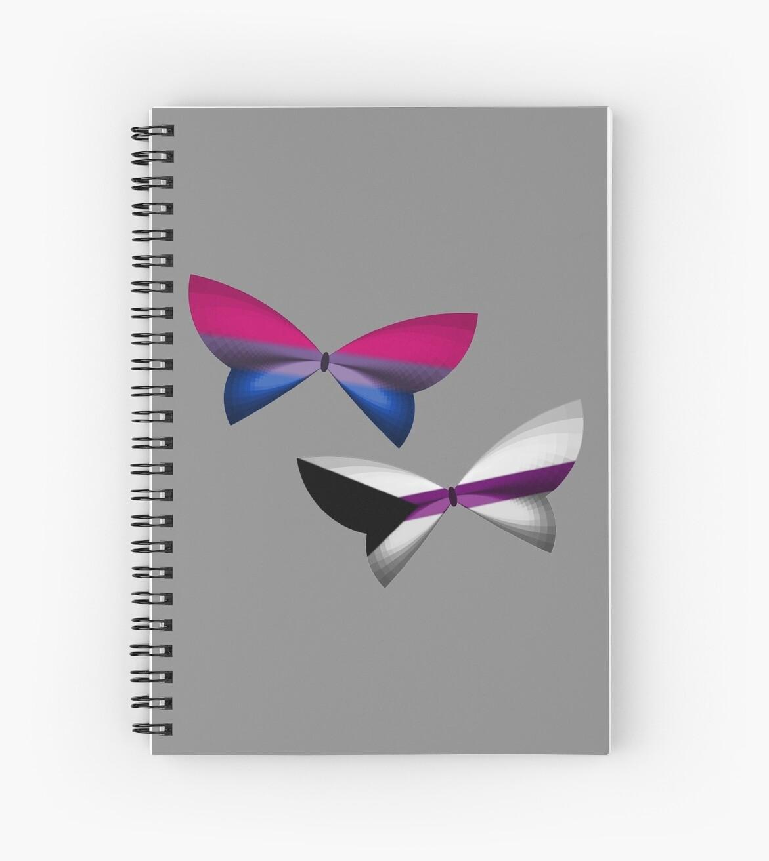 Bi Demisexual Pride Butterflies by shaneisadragon